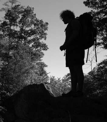 backpacker silhouette
